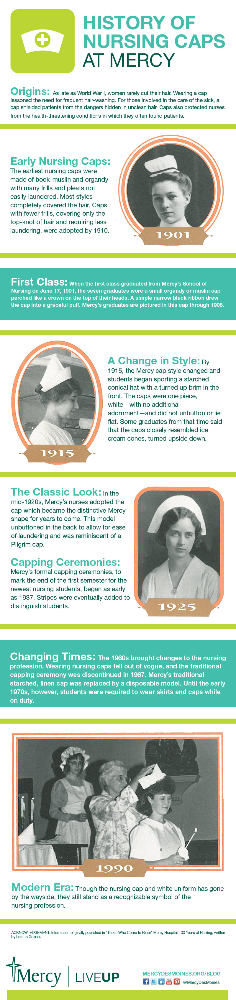 Mercy Nursing Caps - infographic