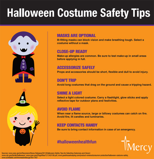 Halloween costume safety - infographic