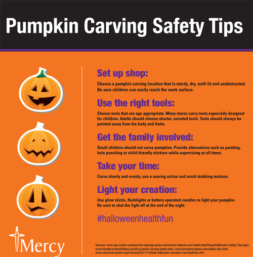 Pumpkin carving safety - infographic